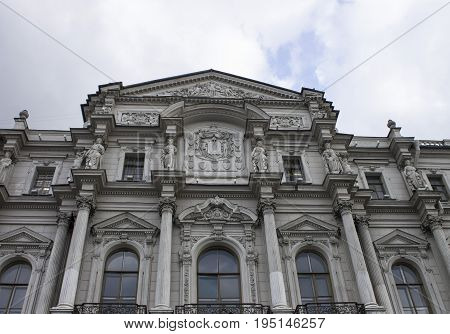 Facade gentry house on Nevsky Prospect. Center Sanstha Petersburg, Russia