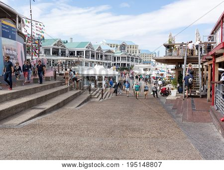 Cape Town South Africa - March 02 2017: V&A Waterfront at the Cape Town Harbour