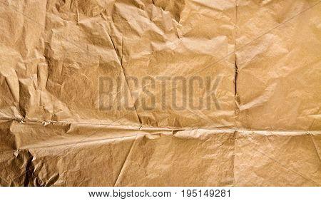Golden paper texture background crumpled paper texture background