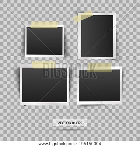 Blank Photo Frame. Vector Illustration, Eps 10. Retro Vintage Style. Place For Your Text.