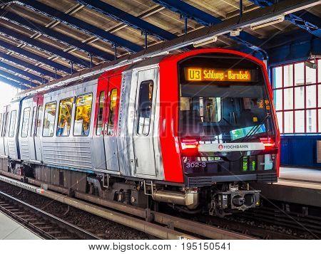 S Bahn (s Train) In Hamburg Hdr