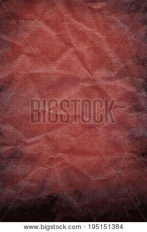 Red Grunge Paper Texture Crumpled Old Mouldy Design With Stains Background