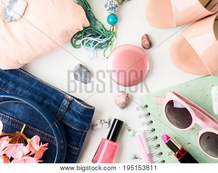 Summer Lifestyle Woman Clothes Flat Lay