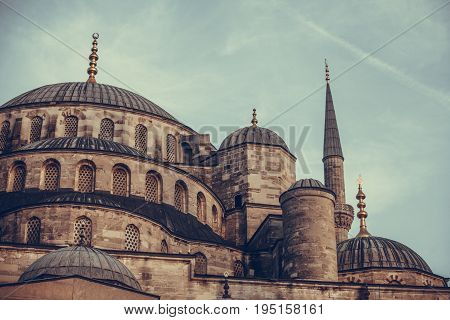 Color image of the Blue Mosque in Istabul Turkey.