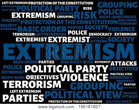 Extremism - Image With Words Associated With The Topic Extremism, Word, Image, Illustration