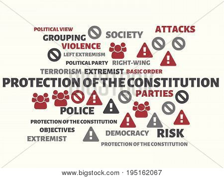 Protection Of The Constitution - Image With Words Associated With The Topic Extremism, Word, Image,