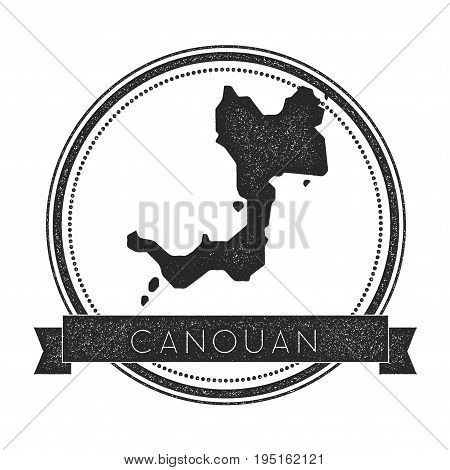 Canouan Map Stamp. Retro Distressed Insignia. Hipster Round Badge With Text Banner. Island Vector Il