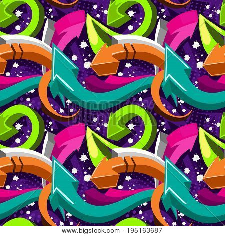 Abstract Seamless Pattern For Girls, Boys, Clothes. Creative Vector Background With Arrow, Lines,str