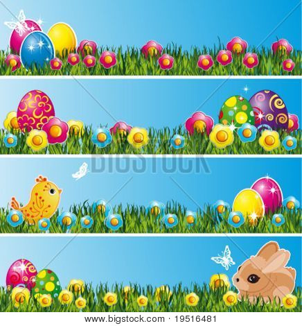 Set of Easter decor elements
