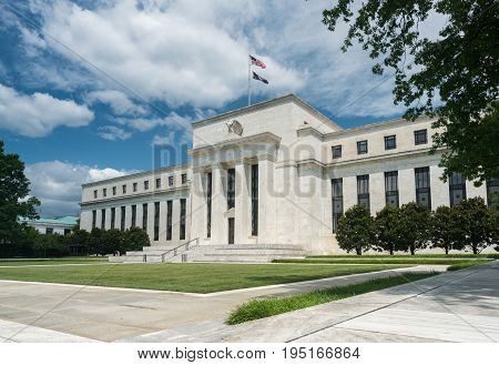 Marriner S. Eccles Federal Reserve Board Building houses the main offices of the Board of Governors of the Federal Reserve System