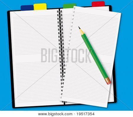 Book with a pencil