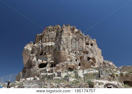 Uchisar Castle In Cappadocia, Turkey
