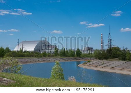 Nuclear reactor number 4 in Chernobyl where the disaster occured.
