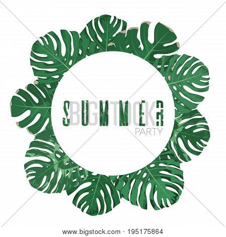 Exotic Jungle Leaves Background.