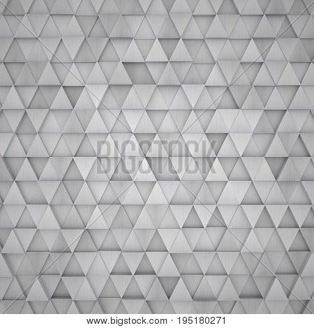 A creative 3D aluminum metal traingle background