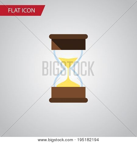 Isolated Loading Flat Icon. Sand Timer Vector Element Can Be Used For Hourglass, Sand, Timer Design Concept.