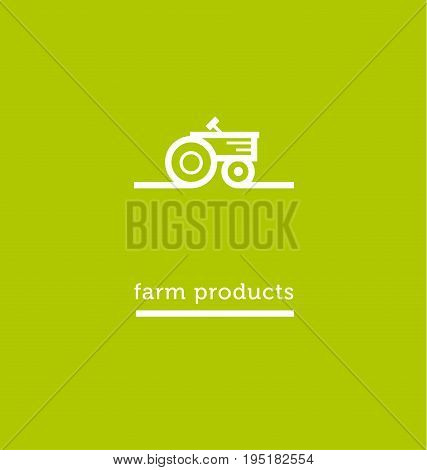 white tractor white icon. simple vector illustration.