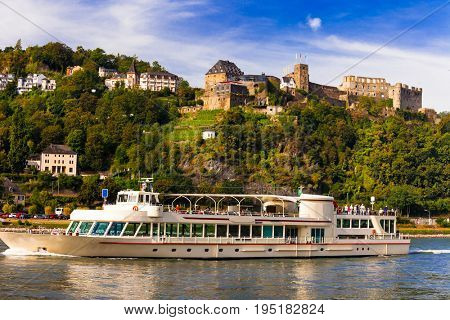 Romantic river cruises over Rhein with famous medieval castles.