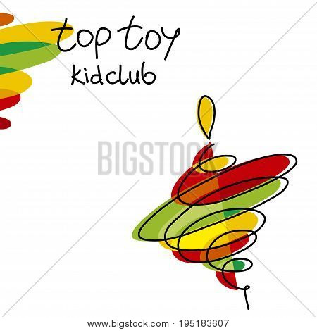 color spinning toy sumbol color vector illustration