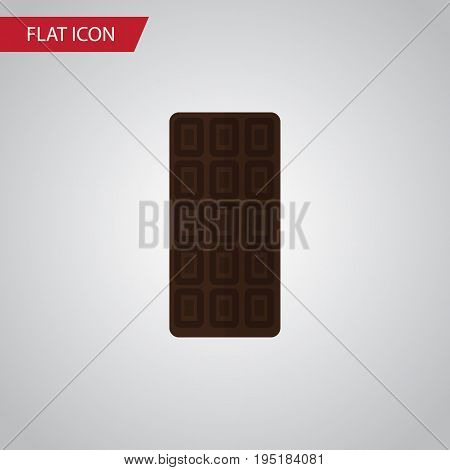 Isolated Chocolate Bar Flat Icon. Confection Vector Element Can Be Used For Chocolate, Confection, Bar Design Concept.