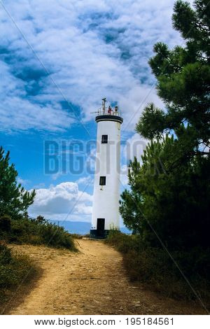 Bright day at the lighthouse. Lighthouse summer day