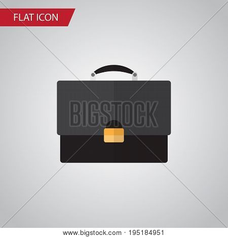 Isolated Briefcase Flat Icon. Portfolio Vector Element Can Be Used For Portfolio, Briefcase, Diplomat Design Concept.