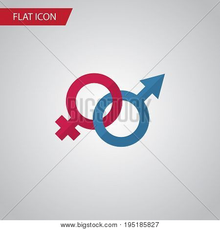 Isolated Gender Signs Flat Icon. Sexuality Symbol Vector Element Can Be Used For Gender, Sign, Sexuality Design Concept.