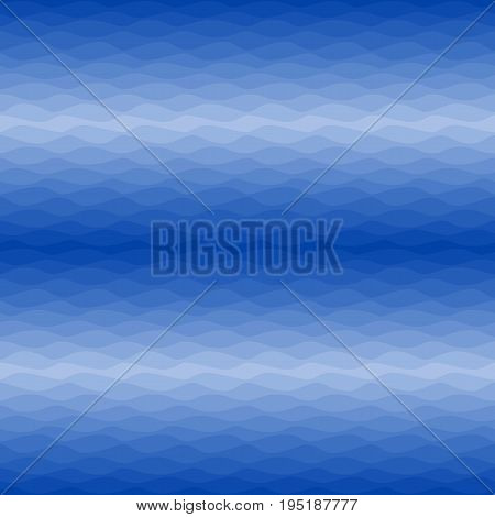 Seamless navy nautical ombre pattern. Gradual color waves. Graphic design element for web sites, stationary printables, fabric, scrapbooking etc. Vector illustration