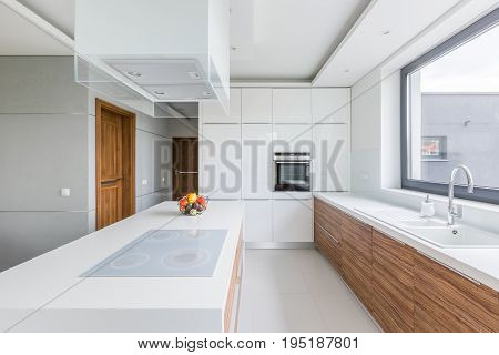 Kitchen With Island And Countertop
