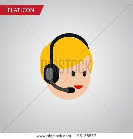 Isolated Service Flat Icon. Call Center Vector Element Can Be Used For Call, Center, Service Design Concept.