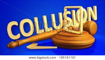 Voting Collusion Legal Gavel Concept 3D Illustration