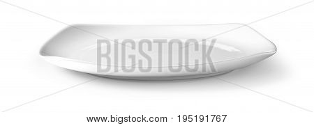 white plate on white isolated with clipping path