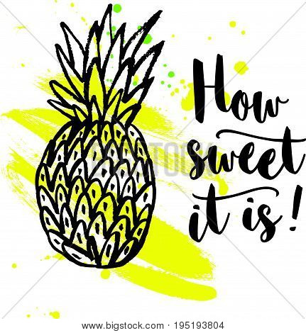 Pineapple With Lettering.