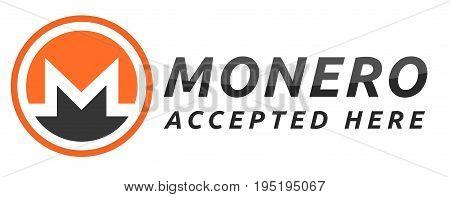 We accept Monero. Orange Monero virtual currency.