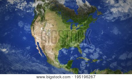 Canada. Shaded Relief Map, With Major Urban Areas. 3D Illustration