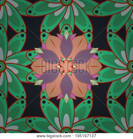Elegant bright and seamless flower pattern design. It can be used on mug prints baby apparels sketch wrapping boxes etc. Vector.