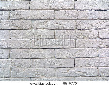 New white brick wall texture grunge background.
