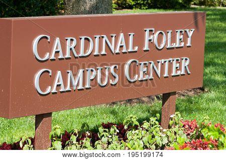 PHILADELPHIA, PA - MAY 17: View of Saint Joseph's University campus on graduation day May 17, 2014