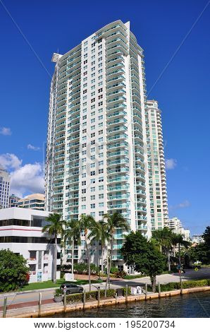 Fort Lauderdale downtown luxurious apartment in Fort Lauderdale, Florida, USA.