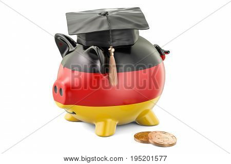 Savings for education in Germany concept 3D rendering isolated on white background