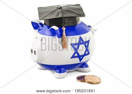 Savings for education in Israel concept 3D rendering isolated on white background