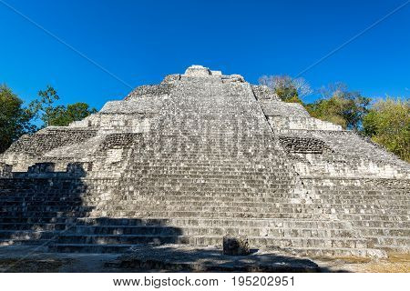 Large Pyramid In Becan, Mexico