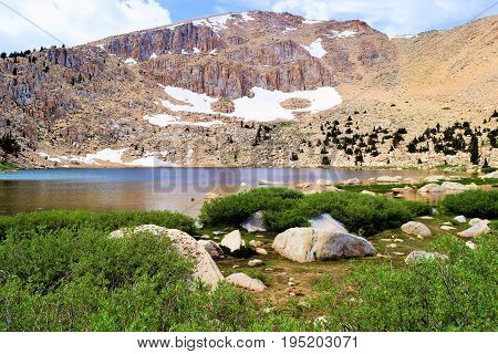 Alpine Meadow beside Chicken Spring Lake taken in the high altitudes of the Sierra Nevada Mountains, CA