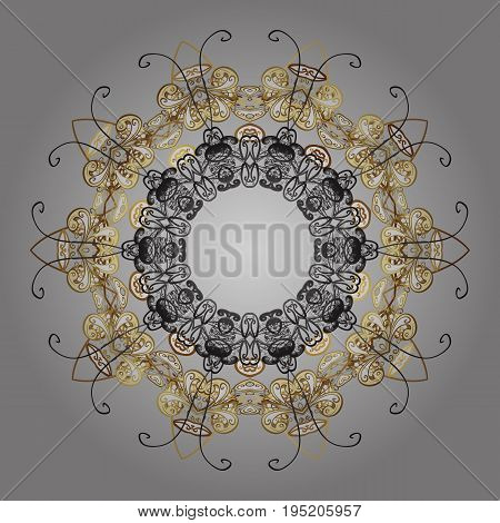 Snowflakes snowfall in colors on a black background. Design. Stock vector illustration falling snow.