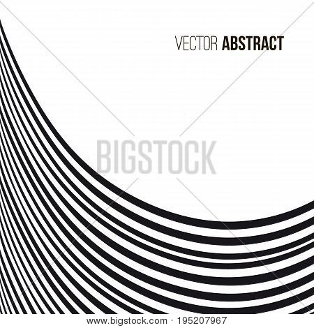 Abstract wavy background. Black and white pattern