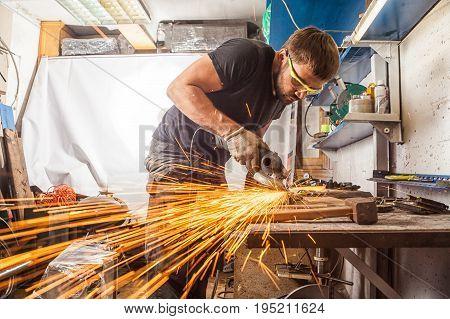 Welder  Grinder Metal An Angle Grinder