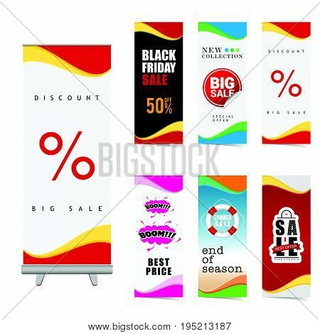 Poster Of Sale Set Illustration