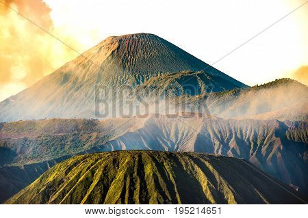 Mount Bromo Volcano (gunung Bromo)on Mount Penanjakan In Bromo Tengger Semeru National Park.