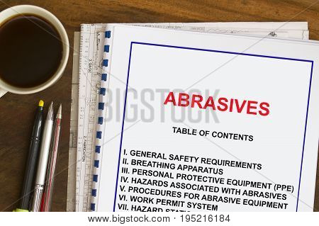 Abrasive blast cleaning material and specification concept