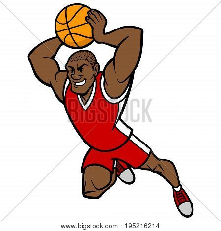 A vector illustration of a Basketball player.